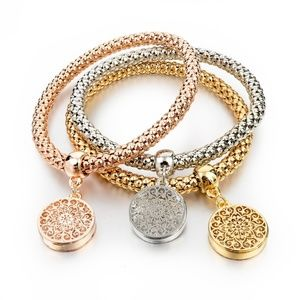 Fashion Bangle Stretch Bracelet Round Lacey Charms